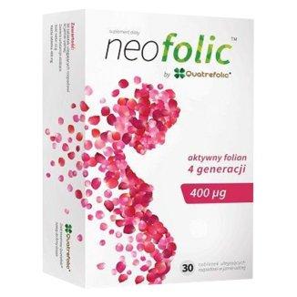 NeoFolic, kwas foliowy 400 µg, 30 tabletek ulegających rozpadowi w jamie ustnej - zdjęcie produktu