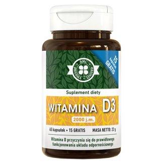 AMC Pharma witamina D3 Medica 2000 j.m., 60 kapsułek - zdjęcie produktu