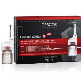Vichy Dercos Aminexil Clinical 5, kuracja przeciw wypadaniu włosów dla mężczyzn, 6 ml x 42 ampułki - zdjęcie produktu