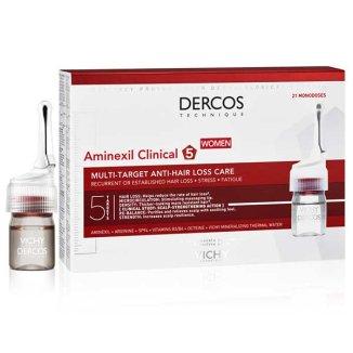 Vichy Dercos Aminexil Clinical 5, kuracja przeciw wypadaniu włosów dla kobiet, 6 ml x 42 ampułki - zdjęcie produktu