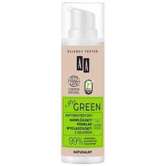 AA Go Green, nawilżający podkład wygładzający z selerem, antybakteryjny, naturalny, 30 ml - zdjęcie produktu