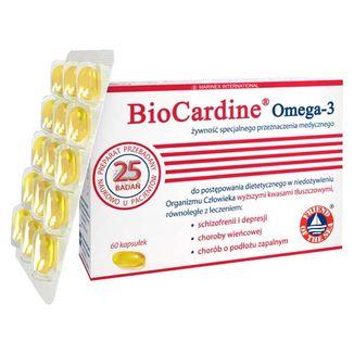 BioCardine Omega-3, 60 kapsułek - zdjęcie produktu