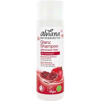 Alviana, ekologiczny szampon nabłyszczający do włosów, z granatem BIO, 200 ml  - zdjęcie produktu