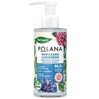 Herbapol Polana, kremowy olejek do mycia twarzy, nawilżanie, łagodzenie, 150 ml - zdjęcie produktu