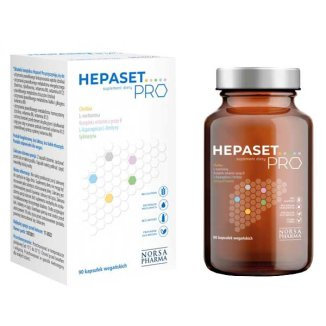Norsa Pharma Hepaset PRO, 90 kapsułek wegańskich - zdjęcie produktu