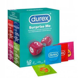 Durex Surprise Me, zestaw prezerwatyw, 40 sztuk - zdjęcie produktu