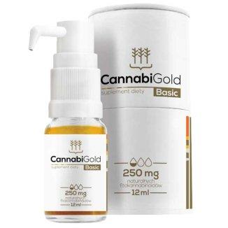 CannabiGold Basic 250, olej z konopi, 12 ml - zdjęcie produktu