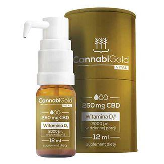CannabiGold Vital 250, CBD + witamina D3, 12 ml - zdjęcie produktu