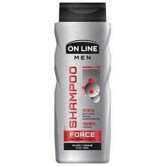 On Line Men Force, szampon dla mężczyzn, włosy cienkie, żeń-szeń, 400 ml - zdjęcie produktu