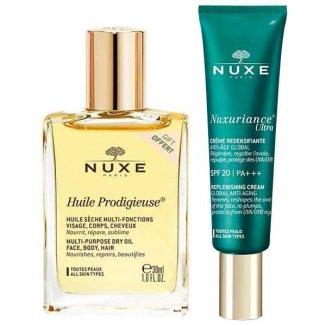 Nuxe Nuxuriance Ultra, krem przeciwzmarszczkowy, SPF20 PA + + +, 50 ml + dodatkowo suchy olejek pielęgnacyjny do ciała, twarzy i włosów, 30 ml - zdjęcie produktu