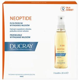 Ducray Neoptide, płyn przeciw przewlekłemu wypadaniu włosów u kobiet, 3 x 30 ml - zdjęcie produktu