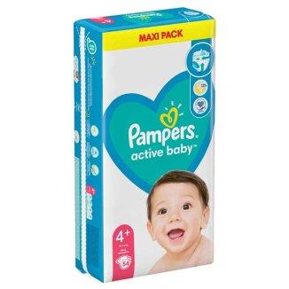 Pampers Active Baby, pieluchy rozmiar 4+, 10-15 kg, 54 sztuki - zdjęcie produktu