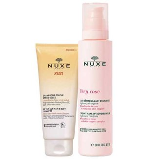 Nuxe Very Rose, kremowe mleczko do demakijażu, 200 ml + dodatkowo Nuxe Sun, żel pod prysznic po opalaniu, 100 ml - zdjęcie produktu