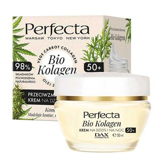 Perfecta Bio Kolagen 50+, przeciwzmarszczkowy krem na dzień i na noc, 50 ml - zdjęcie produktu