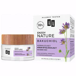 AA Enjoy Nature Bakuchiol, normalizujący krem wygładzający, na dzień i noc, skóra normalna, mieszana i z niedoskonałościami, 50 ml - zdjęcie produktu
