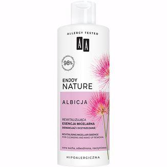 AA Enjoy Nature Albicja, rewitalizująca esencja micelarna, demakijaż i oczyszczanie, skóra sucha, odwodniona i naczyniowa, 400 ml - zdjęcie produktu