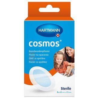 Cosmos, plaster na oparzenia, hydrożelowy, wodoodporny, jałowy, 68 mm x 43 mm, 8 sztuk - zdjęcie produktu