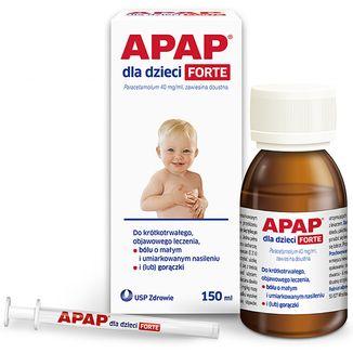 Apap dla dzieci Forte 40 mg/ ml, zawiesina doustna, 150 ml - zdjęcie produktu