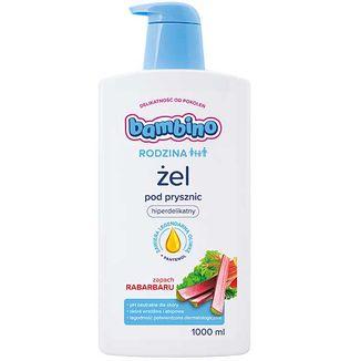 Bambiro Rodzina, żel pod prysznic i do kąpieli, hiperdelikatny, zapach rabarbaru, 1000 ml - zdjęcie produktu