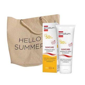 Emolium Suncare, krem ochronny dla dzieci od 1 dnia życia i dorosłych, SPF50+, 50 ml + dodatkowo torba plażowa, 1 sztuka - zdjęcie produktu