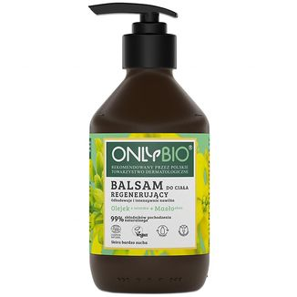 OnlyBio, balsam do ciała, regenerujący, olejek z sezamu + masło shea, 250 ml - zdjęcie produktu