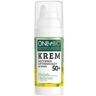 OnlyBio 50+, krem aktywnie liftingujący na dzień, olejek sezamowy i ekstrakt z granatu, 50 ml - zdjęcie produktu