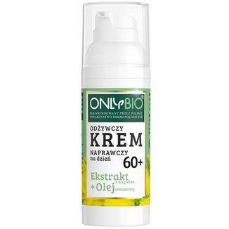 OnlyBio 60+, odżywczy krem naprawczy na dzień, ekstrakt z nagietka i olej sezamowy, 50 ml - zdjęcie produktu
