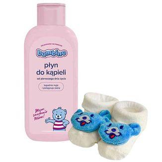 Bambino, płyn do kąpieli, od 1 dnia życia, 400 ml + dodatkowo skarpetki niemowlęce, 1 para  - zdjęcie produktu