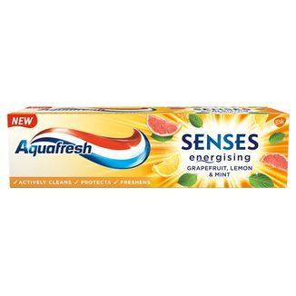 Aquafresh Senses Energising, pasta do zębów, Grapefruit, Lemon & Mint, 75 ml - zdjęcie produktu