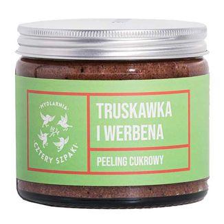 Cztery Szpaki, peeling cukrowy, truskawka i werbena, 200 ml - zdjęcie produktu