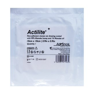 Actilite, opatrunek z 99% miodem Manuka + 1% olejem Manuka, sterylny, 10 cm x 10 cm, 1 sztuka - zdjęcie produktu