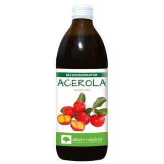 Alter Medica, acerola puree z owoców, 500 ml - zdjęcie produktu