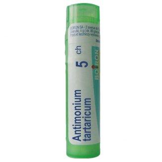 Boiron, Antimonium tartaricum 5 CH granulki, 4 g - zdjęcie produktu