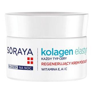Soraya Kolagen i Elastyna, krem regenerujący, półtłusty do twarzy na dzień i na noc, 50 ml - zdjęcie produktu