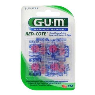 Sunstar Gum Red Cote, tabletki do wybarwiania płytki nazębnej, 12 tabletek - zdjęcie produktu
