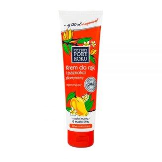 CZTERY PORY ROKU, krem do rąk i paznokci, masło mango i masło shea, 130 ml - zdjęcie produktu