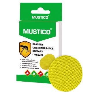 Mustico, plastry odstraszające komary i meszki, dla dzieci od 6 miesiąca, 12 sztuk - zdjęcie produktu