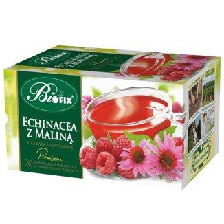 Bi Fix, Premium Echinacea z maliną, herbatka owocowa, 20 saszetek - zdjęcie produktu