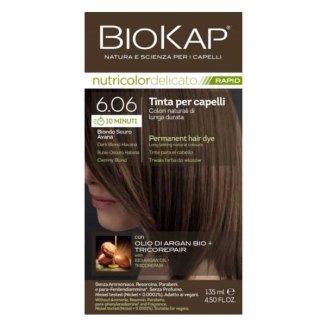 Biokap Nutricolor Delicato Rapid, farba koloryzująca do włosów, 6.06 ciemny blond, 135 ml - zdjęcie produktu