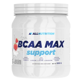 Allnutrition, BCAA Max support, aminokwasy, smak truskawkowy, 500 g - zdjęcie produktu