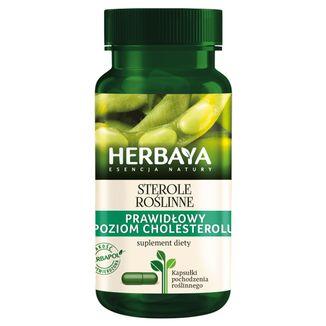 Herbaya, Sterole Roślinne, Prawidłowy poziom cholesterolu, 60 kapsułek - zdjęcie produktu