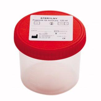 EL-COMP Pojemnik do analizy moczu z nakrętką, wersja jałowa, 120 ml - zdjęcie produktu