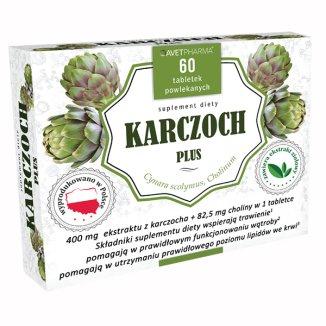 AvetPharma Karczoch Plus, 60 tabletek  - zdjęcie produktu
