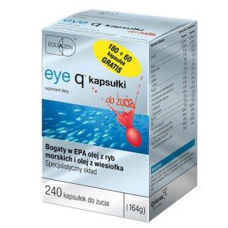 Equazen Eye Q, smak truskawkowy, 180 + 60 kapsułek do żucia - zdjęcie produktu