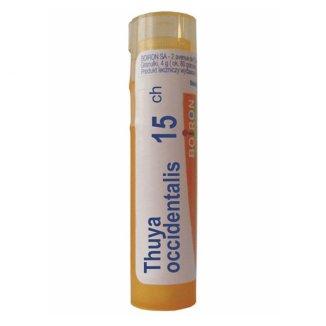 Boiron Thuya occidentalis 15 CH, granulki, 4 g - zdjęcie produktu