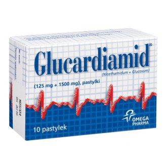 Glucardiamid 125 mg + 1500 mg, 10 pastylek - zdjęcie produktu