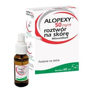 Alopexy 5 % (50 mg/ml) roztwów do stosowania na skórę, 1 butelka 60 ml - zdjęcie produktu