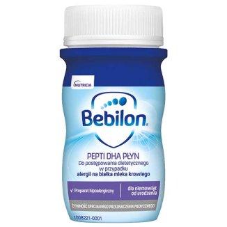 Bebilon Pepti DHA, płyn gotowy do spożycia, od urodzenia, 90 ml - zdjęcie produktu