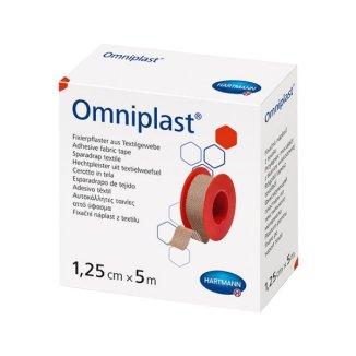 Omniplast, przylepiec tkaninowy z wiskozy, 1,25 cm x 5 m, 1 sztuka - zdjęcie produktu