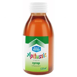 Apitussic 0,052 g/ 5 ml, syrop dla dzieci, 120 ml - zdjęcie produktu
